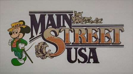 Walt Disney World Main Kingdom Main Street USA logo.
