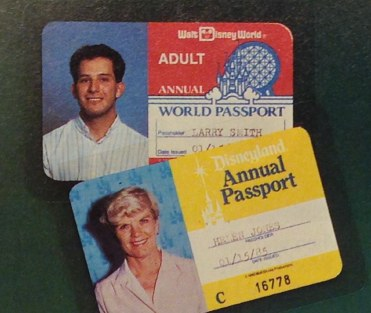 1985 Walt Disney World and Disneyland annual passes