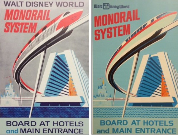 Walt Disney World monorail posters revised version