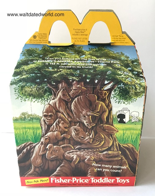 Animal Kingdom Happy Meal box Tree of Life