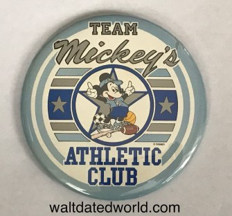 Team Mickey's Atheletic Club button