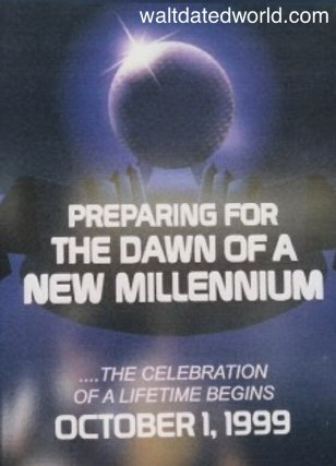 Epcot Dawn of a new millennium sign