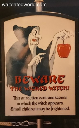 Wicked Witch sign Snow White's Scary Adventures