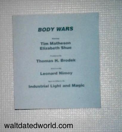 Body Wars film credits sign