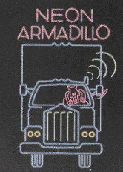 Neon Armadillo logo sign Pleasure Island