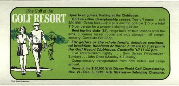 1972 Golf Resort information
