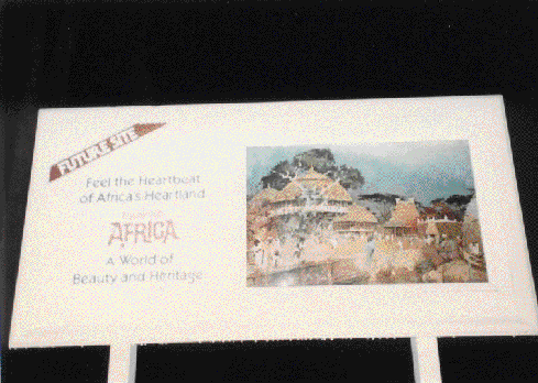 Epcot Africa sign