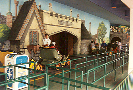 Mr. Toad's Wild Ride loading area