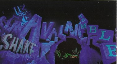 Journey Into Imagination giant word book
