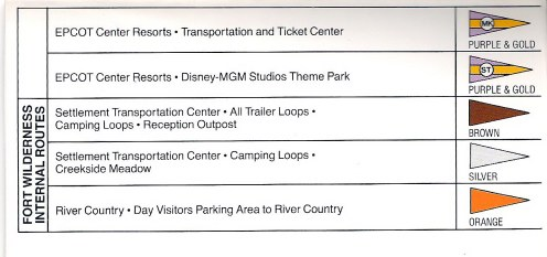 Walt Disney World 1989 Bus Routes