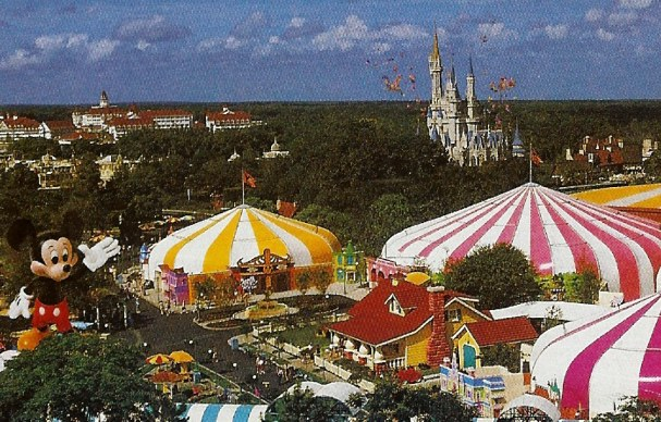 Bird's eye view of Mickey's Birthdayland