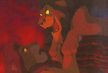 Legend of the Lion King Simba and Scar battle