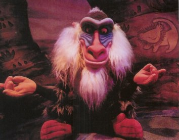 Rafiki in Legend of the Lion King preshow.