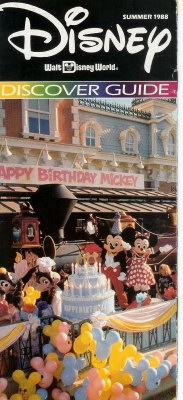 Walt Disney World Discover guide featuring Mickey's Birthdayland