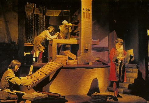 Spaceship Earth printing press