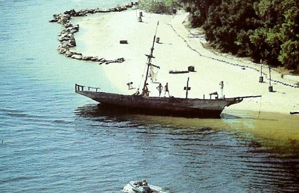 Shipwreck on Discovery Island beach