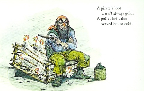 Marc Davis Pirate postcard 5