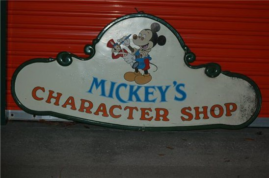 Mickey's Character Shop sign