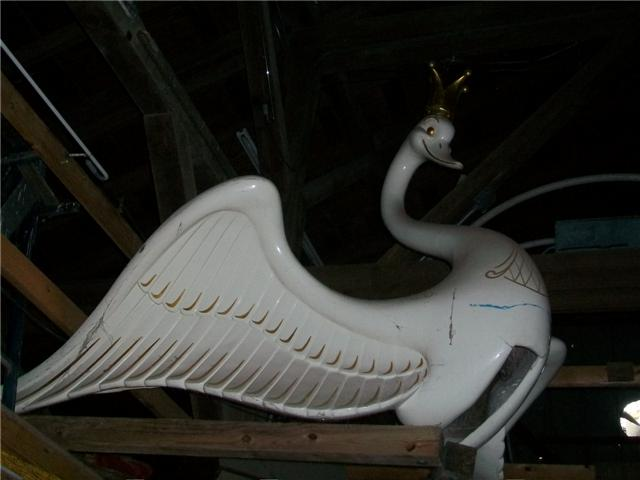 Swan Boat figure removed from boat