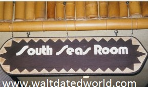 South Seas Room sign