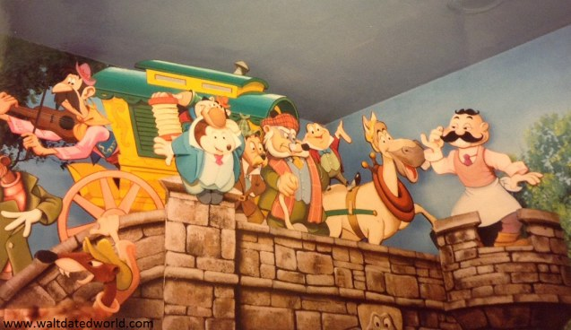 Mr. Toad's Wild Ride loading area mural