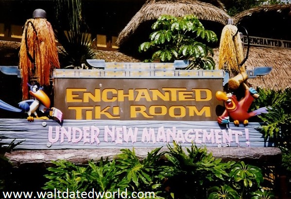 Enchanted Tiki Room Under New Management Sign